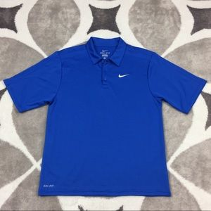 Nike Dri-Fit Men's Blue Polo